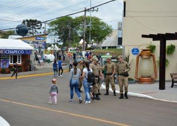 Policiamento reforçado no parque garante a sensação de segurança